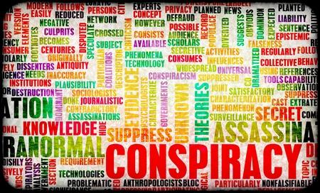 conspiracy: Conspiracy Theory and Hidden Evidence as Concept  Stock Photo