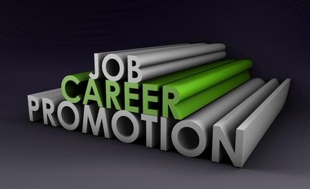 Promotion de carrière de travail et une augmentation de salaire Banque d'images - 9543769
