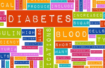Diabetes as a Medical Illness Condition Concept Banco de Imagens