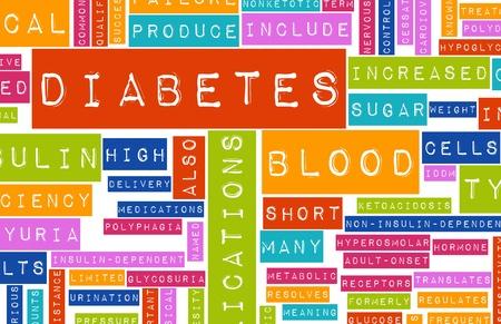 condition: Diabetes as a Medical Illness Condition Concept Stock Photo