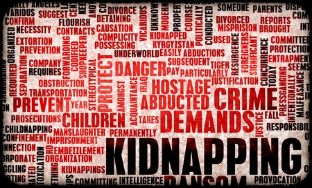 hostage: Kidnapping as a Growing Crime in a Concept Art Stock Photo