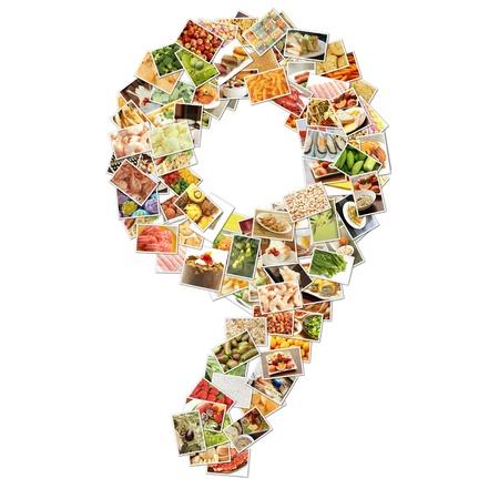 番号 9 9 食品とコンセプト アートをコラージュ
