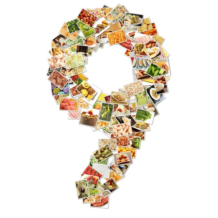 Number 9 Nine with Food Collage Concept Art photo