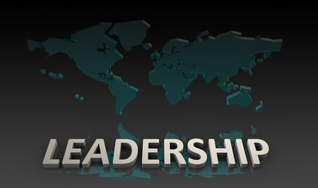 Leadership on a Global Scale in 3d Stock Photo - 9704286