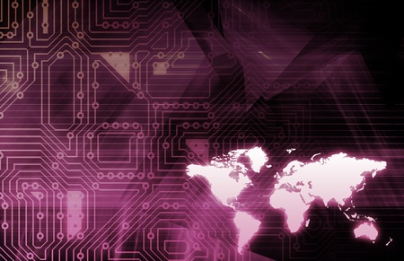 Business Technologies as a Conceptual Tech Art Stock Photo - 9704300