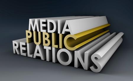 PR 業界の広報コンセプト 写真素材