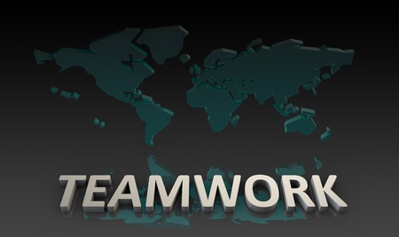 Teamwork by a Global Team as Concept Stock Photo - 9727239