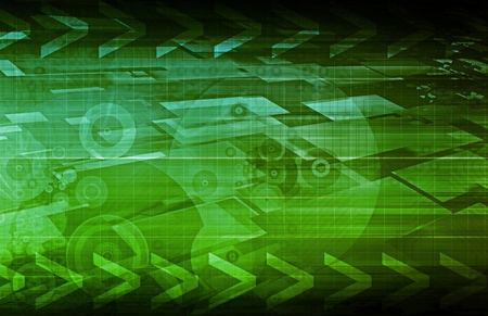 Business Technologies as a Conceptual Tech Art Stock Photo - 9734772