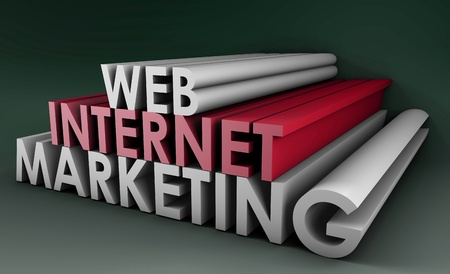 Internet Marketing on the Web in 3D Form Stock Photo - 9751041