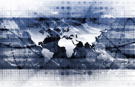 Solutions globales pour une entreprise comme un Concept Banque d'images