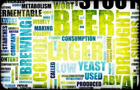 Bier Betrokken Tekst Design Element als Achtergrond