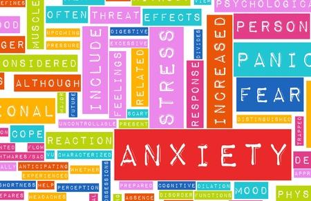 angoisse: Angoisse et de Stress et de ses qualit�s destructrices Banque d'images