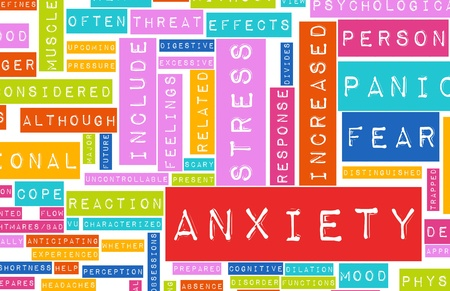 panic: Anxiety and Stress and its Destructive Qualities Stock Photo