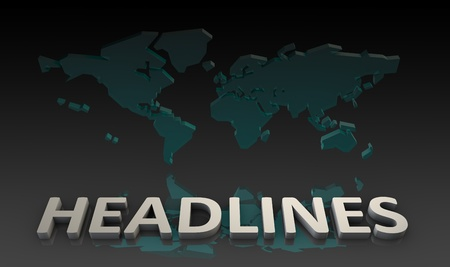 journalistic: World Headlines from Global News in 3d