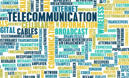 Telecommunications Net Global Industry as a Art Stock Photo - 9776059