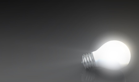 solution: Innovation as a Premium Concept with Light Bulbs Stock Photo