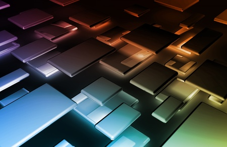 it technology: Abstract Background with a Technology Theme Art Stock Photo