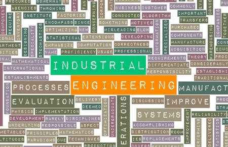 industrial machinery: Industrial Engineering Job Career as a Concept Stock Photo