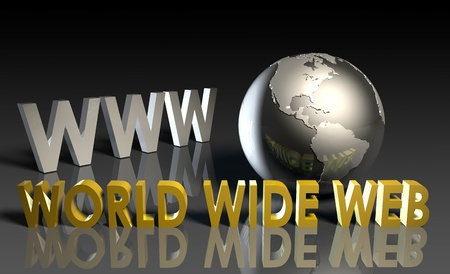 web address: WWW World Wide Web 3d as Concept