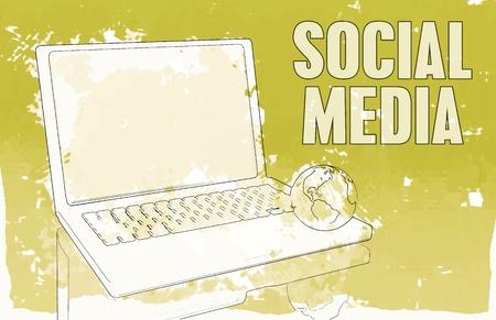 web marketing: Social Media Interaction Technology on the Web  Stock Photo