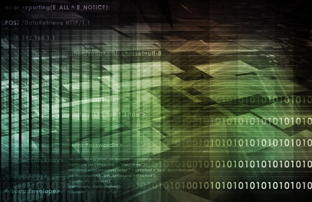 Futuristic Technology with a Digital Web Art photo