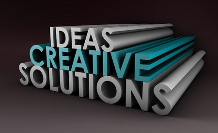 Creative Ideas and Solutions as 3d Illustration illustration