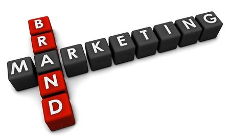 Brand Marketing Concept in 3d Blocks Art Stock Photo - 9793816