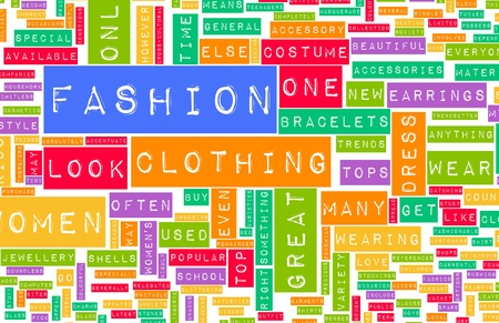Fashion Industry Online as a Creative Abstract photo