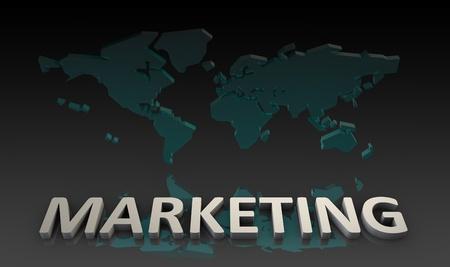 World Marketing on a Global Scale Background photo
