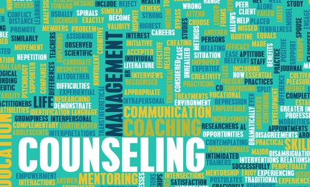 Counseling and Therapy as a Career Concept Stock Photo - 9827369