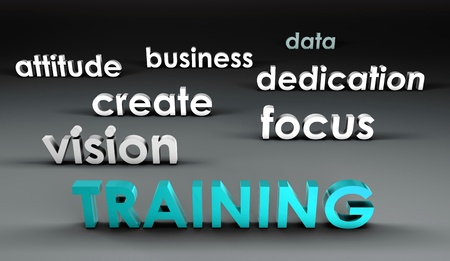 Training at the Forefront in 3d Presentation Stock Photo - 9842203