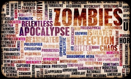 Zombies in the Undead Apocalypse Outbreak Art Zdjęcie Seryjne
