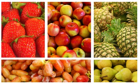 Fruits and Vegetables Variety and Choice Collage photo