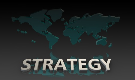 Global Strategy in a Business as a Concept Imagens