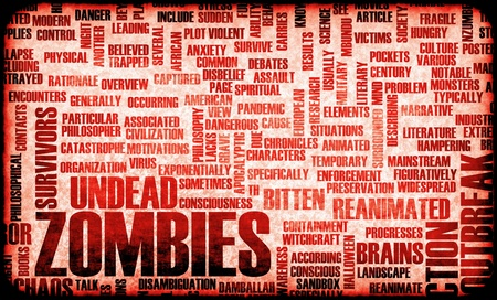Zombies in the Undead Apocalypse Outbreak Art Stock Photo - 9915192