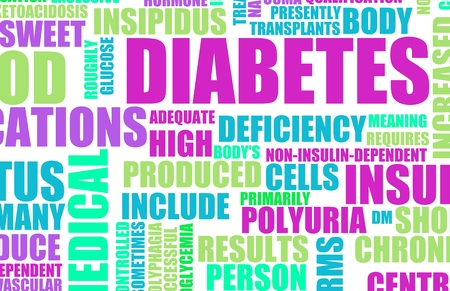 diabetic: Diabetes as a Medical Illness Condition Concept Stock Photo