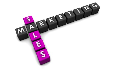 web marketing: Sales and Marketing Concept in 3d Format Stock Photo