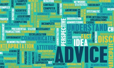 Goed advies of aanbeveling van een deskundige Stockfoto