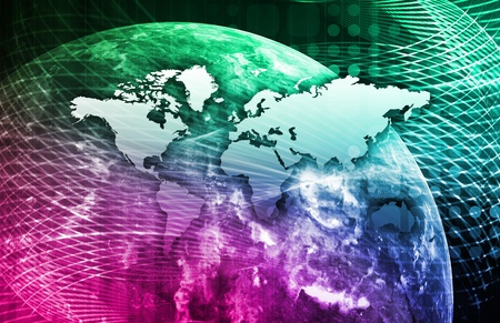 Security Network Data of the World Background Stock Photo - 9976121