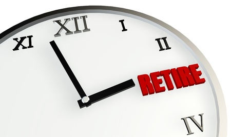 prendre sa retraite: Temps de retraite Coming Soon et de la planification sur l'horloge