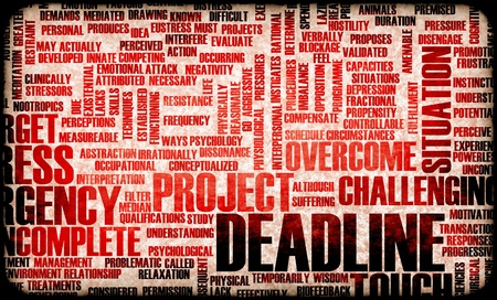 project deadline: Deadline in the Work Place and Growing Stress