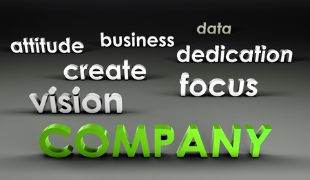 company vision: Company at the Forefront in 3d Presentation