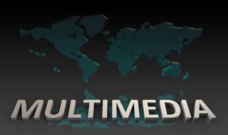 multimedia: Global Multimedia Technology in Web Data  Art Stock Photo