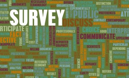 世論調査は人口統計学データ集 写真素材