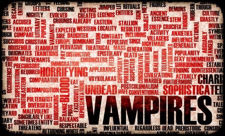 Vampires of the Night Horror Movie Concept Stockfoto