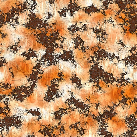 Rust Pattern Seamless Background on Metal Texture