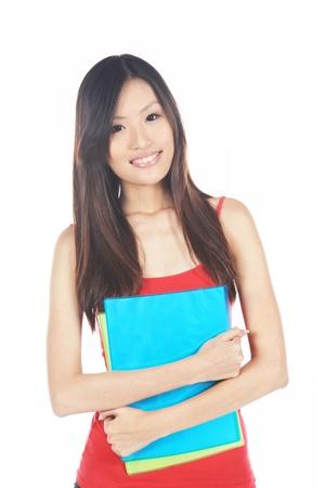 Aziatische University Student klaar op inschrijving dag Stockfoto
