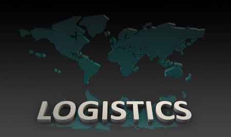 Global Logistics Management Processes As a Art Stock fotó
