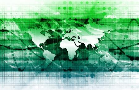Solutions globales pour une société comme un concept Banque d'images
