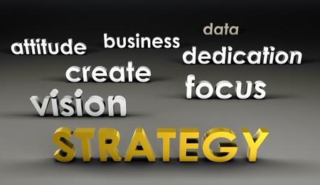 Stratégie à la pointe de présentation 3D Banque d'images - 10066947